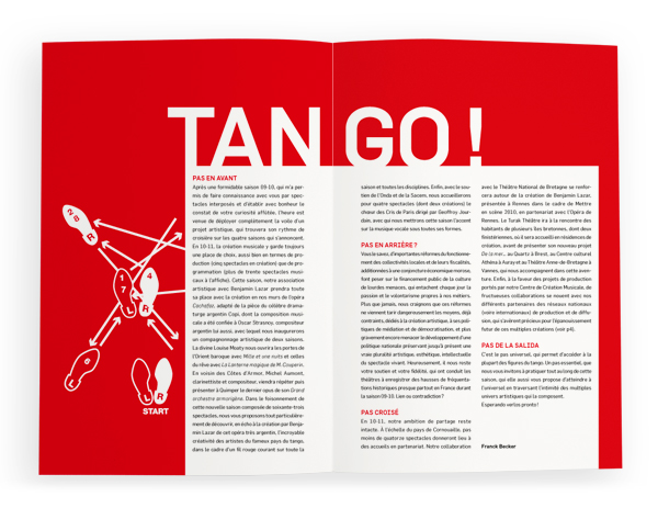 Théâtre de Cornouaille<em>brochure 2010-2011</em>