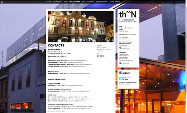 Théâtre du Nord <em> &#8211; website </em>