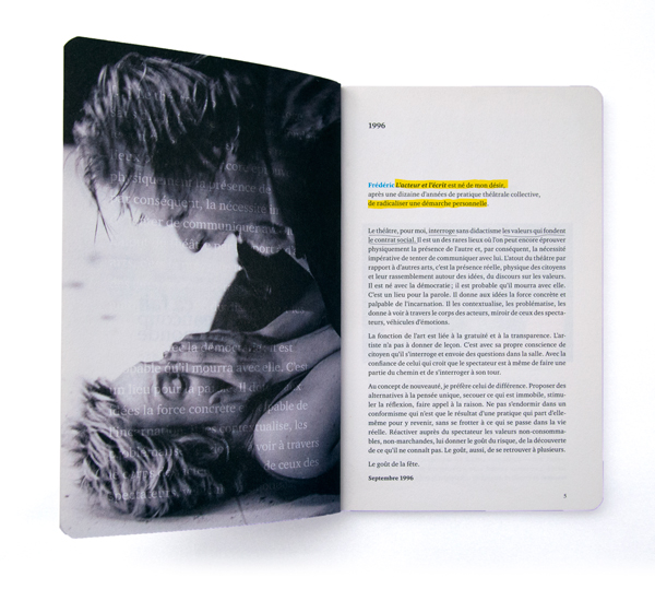 L&#8217;acteur et l&#8217;écrit<em>&#8211; brochure</em>