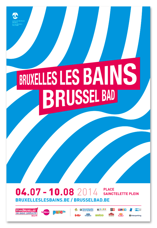 Bruxelles les bains 2012<em>&#8211; affiche</em>