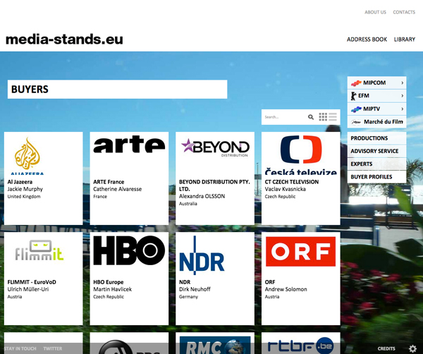 Media-Stands <em> &#8211; website </em>