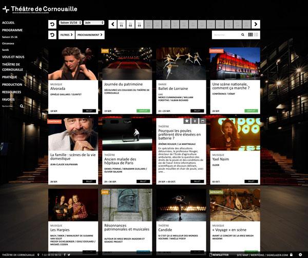 Théâtre de Cornouaille <em> — website </em>