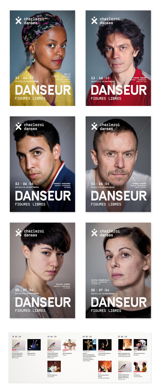 Charleroi Danses <em> — Dépliants DANSEUR </em>